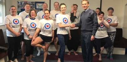 Grant funds lunchtime yoga sessions at RAF Scampton