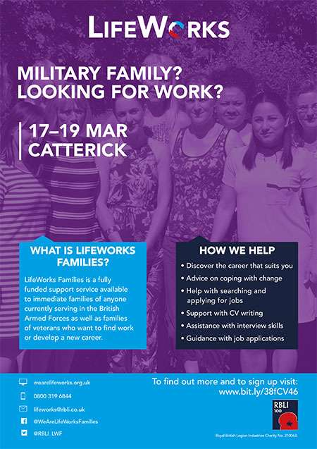 LifeWorks poster for course at Catterick