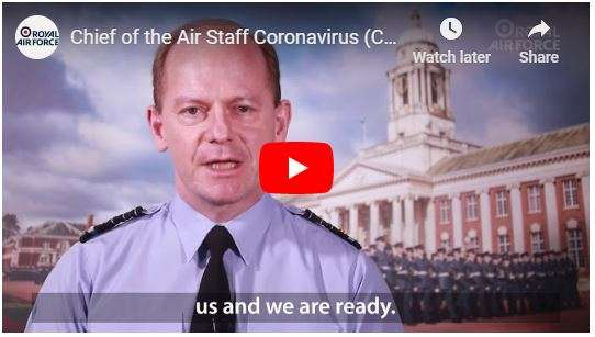 Chief of the Air Staff  recorded a video message