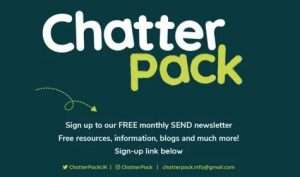 Image of the Chatter Pack logo for downloadable educational resources