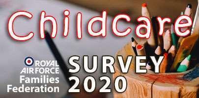 RAF FF branded childcare survey image 2020