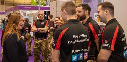 RAF Police Dog Display Team at Crufts