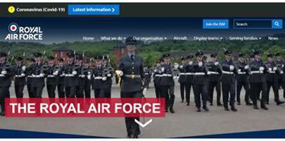 Image of RAF website