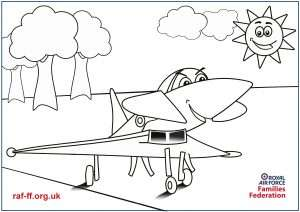 A4 colouring sheet from the RAF FF showing the RAF Typhoon.