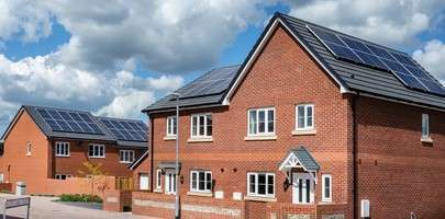 Image showing some new homes in a housing estate.