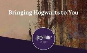 Screen shot of the Harry Potter at Home website