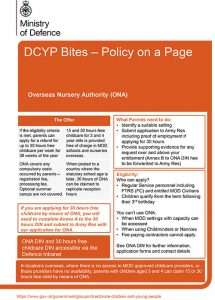 DCYP Bites - Policy on a Page poster