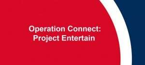 Screen shot of the Operation Connect; Project entertain banner.