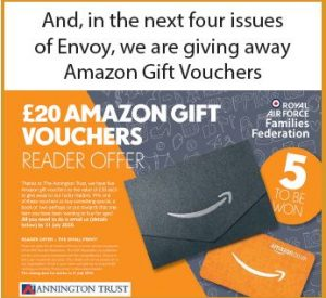 Screenshot of Envoy's £20 Amazon Gift Vouchers advert.