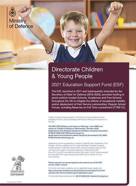 DCYP Education Support poster