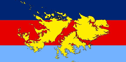 Map of the Falkland Islands.