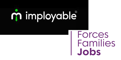 Merged image showing Imployable's logo and Forces Families Jobs.