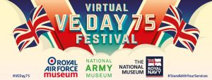 Screenshot of the RAF Museum's VE Day Festival banner off their website.