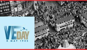 RAFBF's VE Day homepage screenshot.