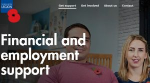 Screenshot of the RBL's Financial and employment support page on their website.