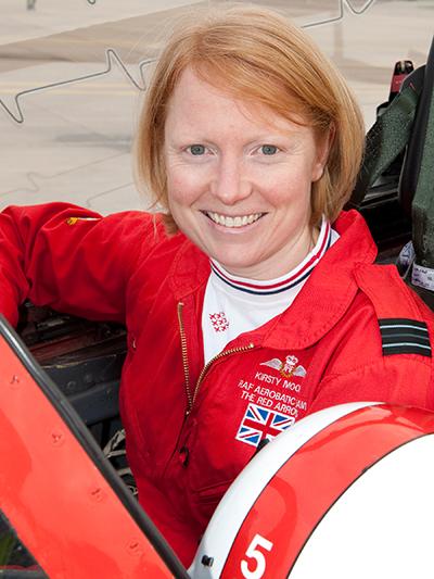 RAF Red Arrows pilot, Kirsty Murphy