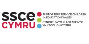 SSCE Cymru logo - Supporting Service Children in Education Wales.