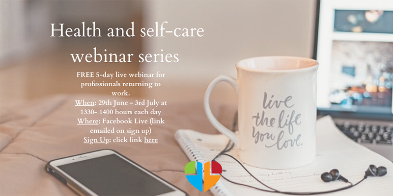 Health and self-care webinar series by Claire Willsher