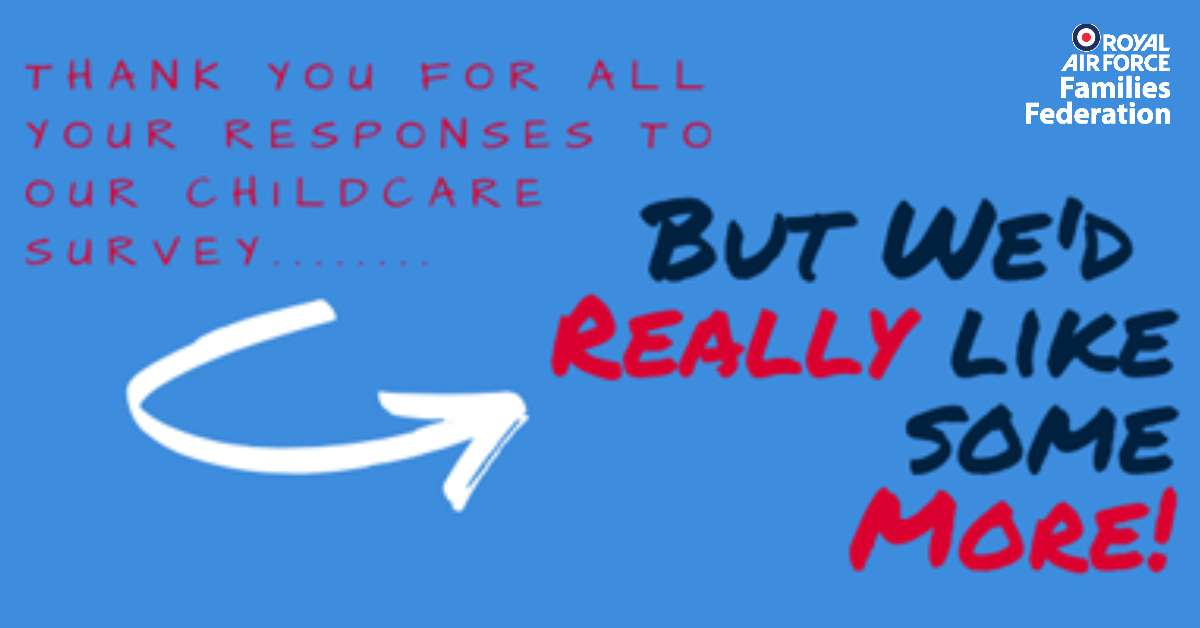 RAF FF relaunch childcare survey banner