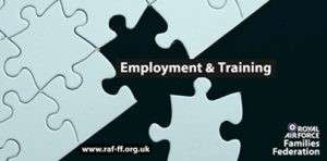 Branded image of a missing jigsaw piece for Employment and Training month.