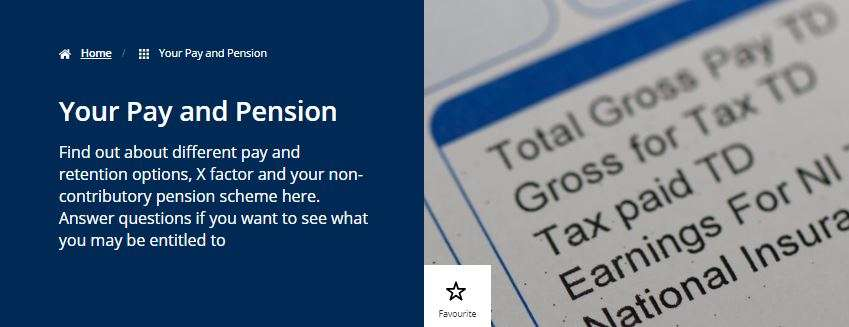 Discover my benefits pay and pensions snip