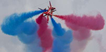 Red Arrows PDA display