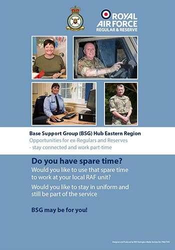 Base Suport Group Eastern Region Recruitment flyer