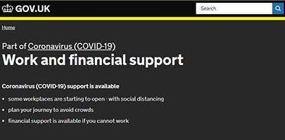 GOV.UK Work and financial support