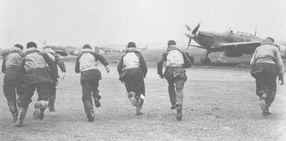 Airmen scramble