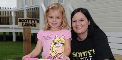 Nikki Scott with her daughter Brooke at the opening of Scotty's first lodge in Great Yarmouth in 2012