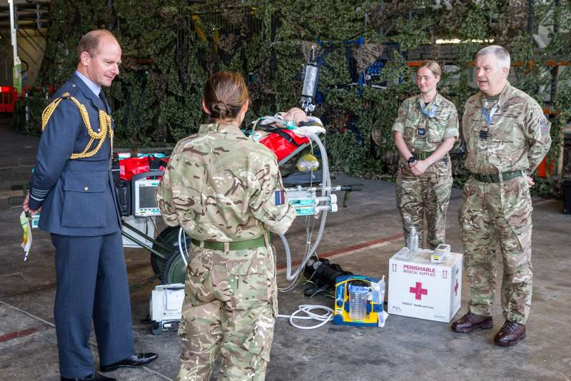 Pictured is ACM Wigston talking to the Tactical Medical team.