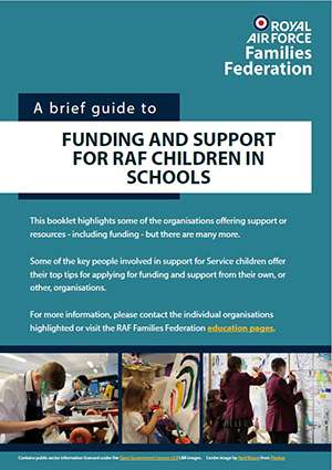 Cover image of 'A brief guide to funding and support for RAF children in schools'
