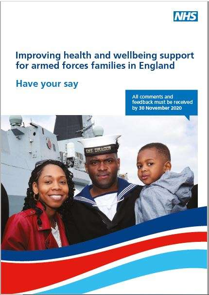 Improving health and wellbeing support for armed forces families in England survey booklet